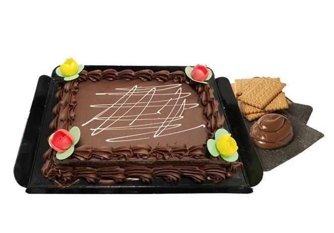 tarta galleta y chocolate