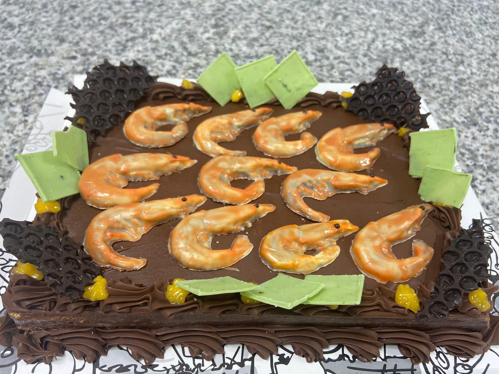 Tarta personalizada Chocolate langostinos